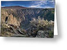 Late Afternoon At Black Canyon Of The Gunnison Greeting Card