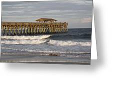 Late Afternoon At The Pier Greeting Card
