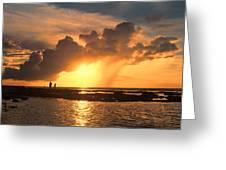 Late Afternoon Beach Walk Greeting Card
