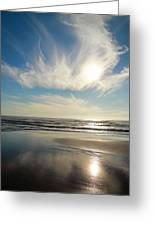 Late Afternoon On An Oregon Beach Greeting Card
