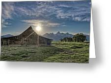 Late Evening At Moulton Barn Greeting Card