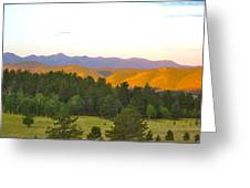 Late Light Mountains Greeting Card