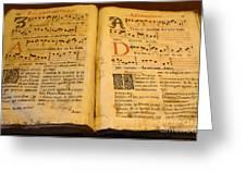 Latin Hymnal 1700 Ad Greeting Card