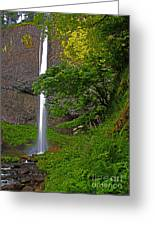 Latourell Falls Oregon - Posterized Greeting Card
