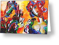 Laubar - Pokerface Greeting Card by Laurens  Barnard