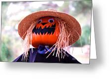Laughing Pumpkin Greeting Card