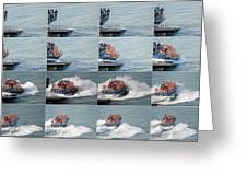 Launching The Lifeboat Greeting Card