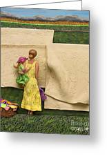 Laundry - Crop Of Original - To See Complete Artwork Click View All Greeting Card by Anne Klar