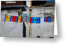 Laundry Clips Greeting Card