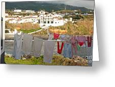 Laundry Day In Azores Greeting Card