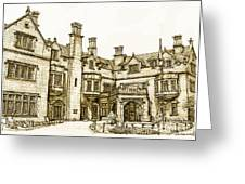 Laurel Hall In Sepia Greeting Card by Adendorff Design