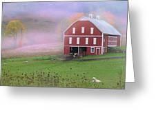 Laurel Mountains Barn Greeting Card