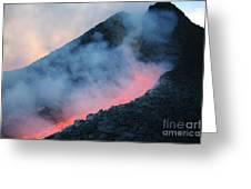 Lava Flowing From Base Of Hornito Greeting Card