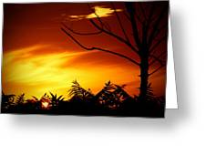 Lava Skies Greeting Card