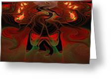 Red Hot Lava Greeting Card