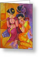Lavani -indian Folk Dance. Greeting Card