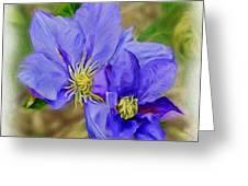 Lavendar Blue Greeting Card