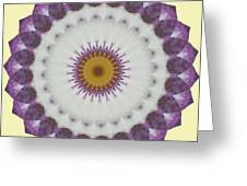 Lavender And Yellow Kaleidoscope Greeting Card
