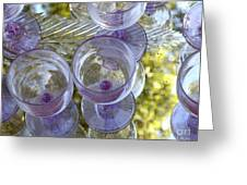 Lavender Wine Glasses Greeting Card
