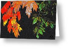 Lavish Leaves 5 Greeting Card