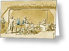 Lavoisier Experimenting Greeting Card