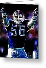Lawrence Taylor  Greeting Card by Paul Ward