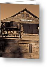 Laws Ca Historic Depot Greeting Card