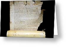 Lawsuit Of The Cathedral Chapter Of Calahorra. Pleito Del Cabildo Catedralicio De Calahorra Greeting Card