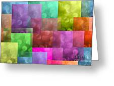 Layered Tiles Abstract Greeting Card