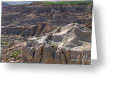 Layers Of Rock In The Badlands Greeting Card