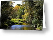 Lazy Autumn River Greeting Card