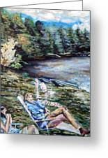 Lazy Day On The Mill Pond Greeting Card