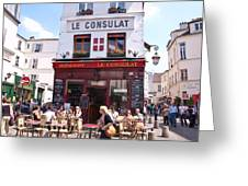 Le Consulat Cafe  Greeting Card