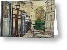 Le Moulin De La Galette Paris Greeting Card