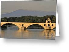 Le Pont Benezet.avignon. Provence. Greeting Card by Bernard Jaubert