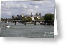 Le Pont Des Arts. Paris. France Greeting Card by Bernard Jaubert