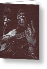 Leadbelly Greeting Card by Kathleen Kelly Thompson