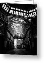 Leadenhall Market Black And White Greeting Card