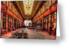 Leadenhall Market Interior Greeting Card
