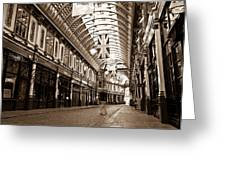 Leadenhall Market London With  Greeting Card