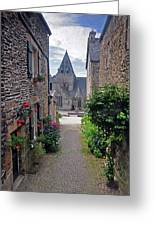 Leading To The Church Provence France Greeting Card