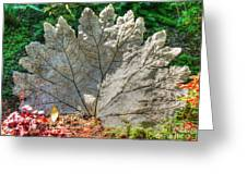 Leaf Art Greeting Card