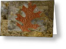 Leaf Life 01 -brown 01b2 Greeting Card