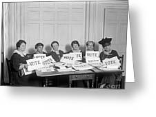 League Of Women Voters Greeting Card
