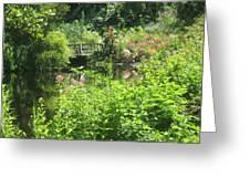 Leaming Run Gardens Pond Greeting Card