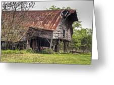 Leaning Barn 2 Greeting Card