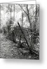Leaning Fence Greeting Card