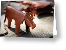 Leather Elk  Greeting Card