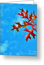 Leaves Against The Sky Greeting Card
