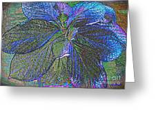 Leaves Of Blue Greeting Card